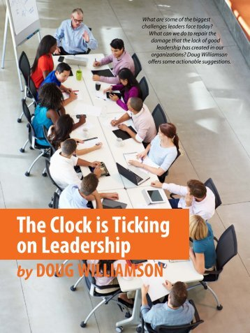 The Clock is Ticking on Leadership
