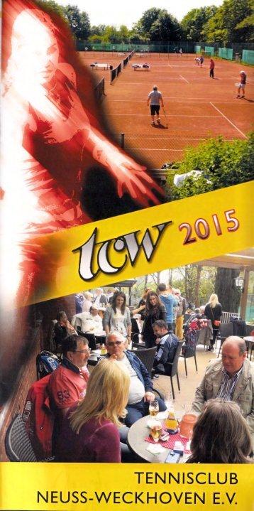 Clubheft des TCW - Ausgabe für 2015