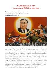 KFA Delegation to North Korea -April 2013 ... - Korea-DPR.com
