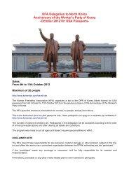 KFA Delegation to North Korea Anniversary of the ... - Korea-DPR.com