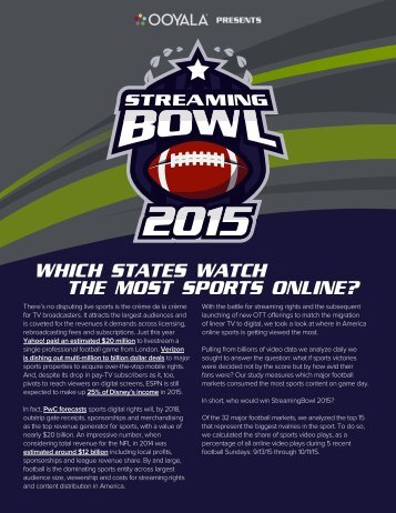 WHICH STATES WATCH THE MOST SPORTS ONLINE?