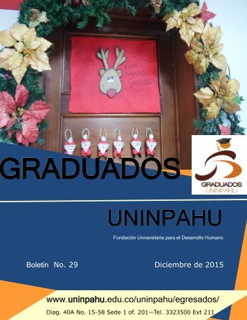BOLETÍN VOLUMEN 29 Graduados