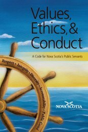 Values, Ethics,& Conduct - Government of Nova Scotia