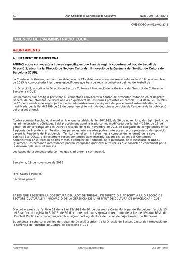 ANUNCIS DE L'ADMINISTRACIÓ LOCAL AJUNTAMENTS
