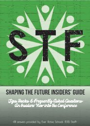 Shaping the Future Insiders' Guide