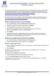 External User Guide - Learning Management System - University of ...