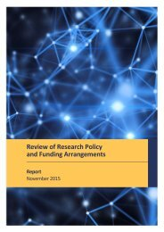 Review of Research Policy and Funding Arrangements