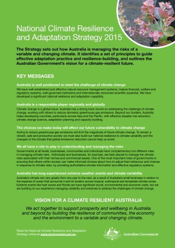 National Climate Resilience and Adaptation Strategy 2015