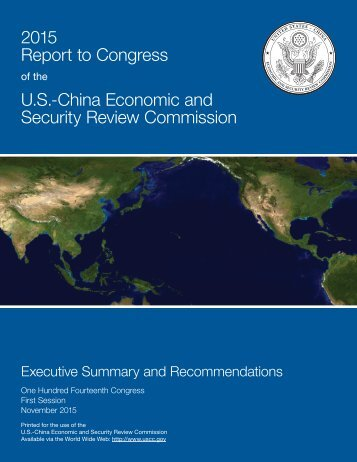 2015 Report to Congress U.S.-China Economic and Security Review Commission