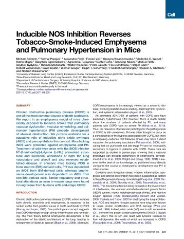 Inducible NOS Inhibition Reverses Tobacco-Smoke-Induced ...