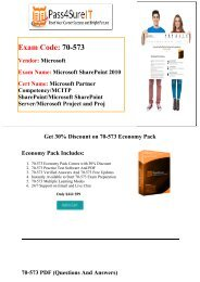 Pass4sure 70-573 Exam Preparation Material For Best Results