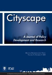 A Journal of Policy Development and Research