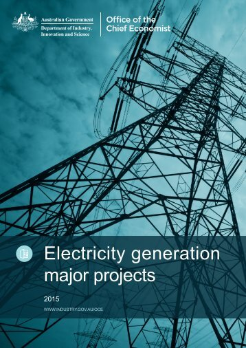 Electricity generation major projects