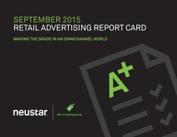 RETAIL ADVERTISING REPORT CARD