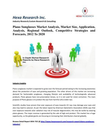 Plano Sunglasses Market Analysis, Market Size, Application, Analysis, Regional Outlook, Competitive Strategies and Forecasts, 2014 To 2020