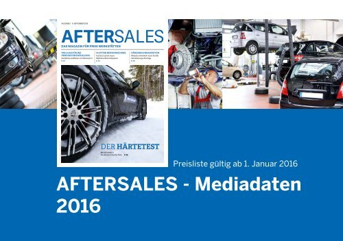 AfterSales Magazin Mediadaten 2016