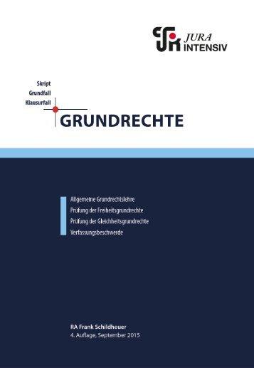 Leseprobe - Jura Intensiv - Grundrechte (4. Auflage)