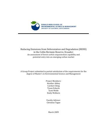 Cofan Group Project Final Report - US Environmental Protection ...