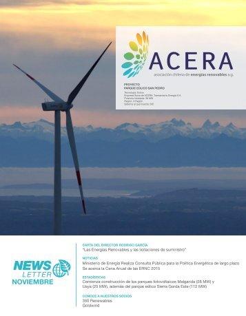 Newsletter ACERA Noviembre 2015