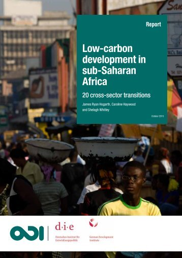 Low-carbon development in sub-Saharan Africa