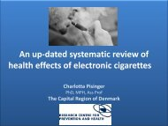 An up-dated systematic review of health effects of electronic cigarettes