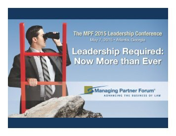 Audience Polling Results The MPF 2015 Leadership Conference