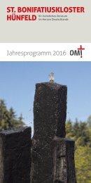 St. Bonifatiuskloster Jahresprogramm 2016