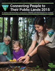 Connecting People to Their Public Lands 2015