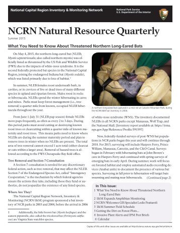NCRN Natural Resource Quarterly