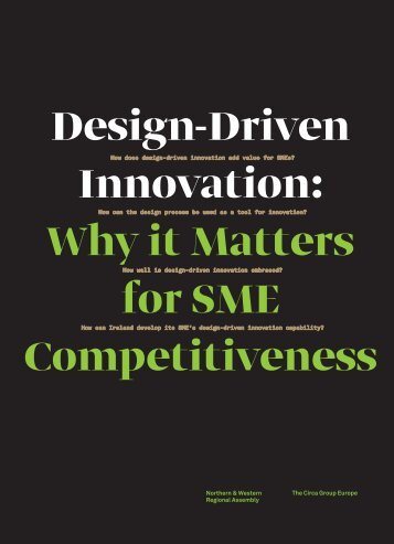 Design-Driven Innovation Why it Matters for SME Competitiveness