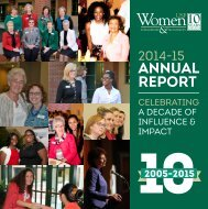 WLP 2014-2015 Annual Report: Celebrating A Decade of Impact & Influence