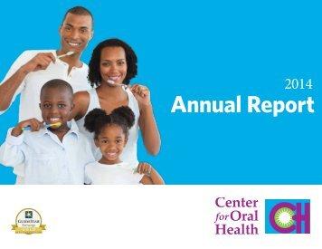 Center for Oral Health 2014 Annual Report