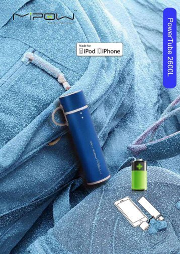 Mipow Powerbank 2600L mit Apple zertifiziertem Adapter