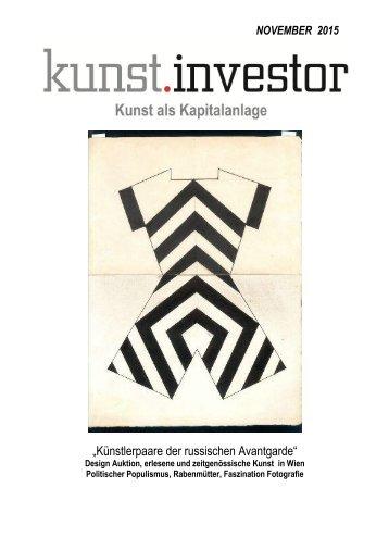 KUNSTINVESTOR Heft Nr. 11 [AUSGABE.NOVEMBER.2015]