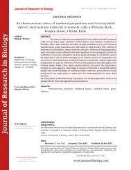 An ethnoveterinary survey of medicinal preparations used to treat painful delivery and retention of placenta