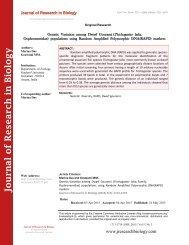 Genetic Variation among  Dwarf  Gourami (Trichogaster  lalia; Family- Osphronemidae)