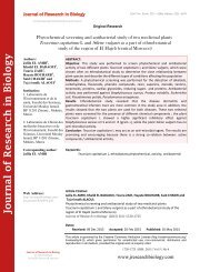 Phytochemical screening and antibacterial study of two medicinal plants