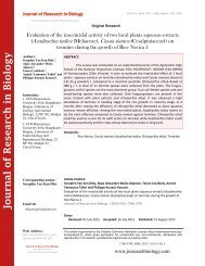 Evaluation of the insecticidal activity of two local plants aqueous extracts