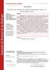 Prevalence of hemoglobin abnormalities in kindergartens of the city of Parakou (Benin) in 2013