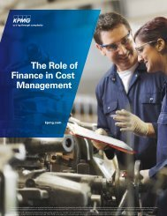 The Role of Finance in Cost Management