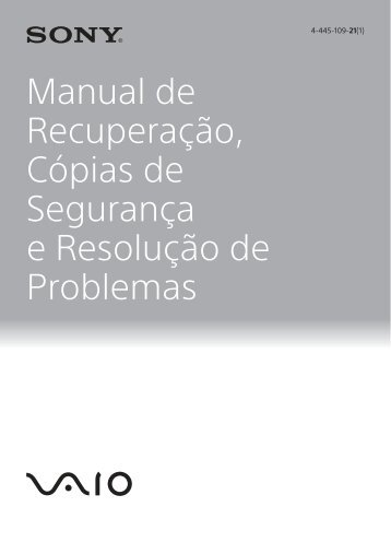 Sony SVE14A3M1E - SVE14A3M1E Guida alla risoluzione dei problemi Portoghese