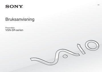 Sony VGN-SR49VT - VGN-SR49VT Istruzioni per l'uso Svedese
