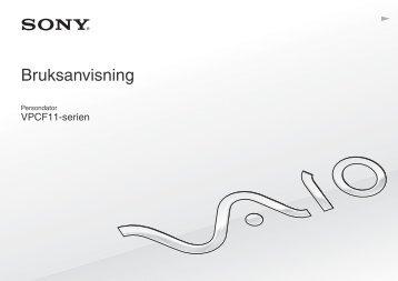Sony VPCF11E4E - VPCF11E4E Istruzioni per l'uso Svedese