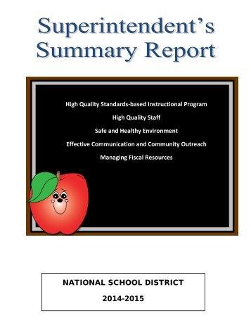 NATIONAL SCHOOL DISTRICT 2014-2015