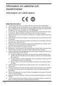 Sony VPCSB1V9R - VPCSB1V9R Documenti garanzia Svedese - Page 6