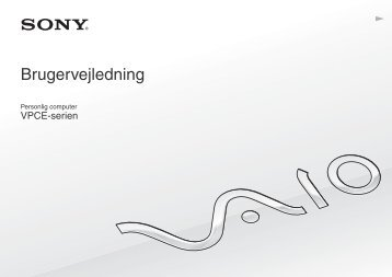 Sony VPCEB1E8E - VPCEB1E8E Istruzioni per l'uso Danese