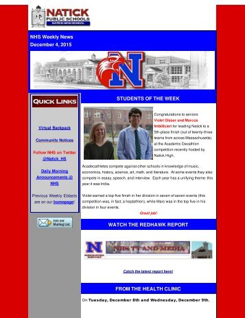 NHS - Weekly News 12-4-15