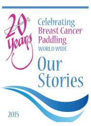 20 Years Memento of International Breast Cancer Dragon Boat Paddling.