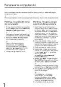 Sony VPCYB3Q1R - VPCYB3Q1R Guida alla risoluzione dei problemi Rumeno - Page 6