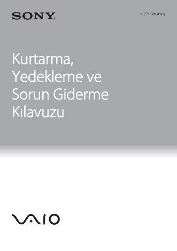 Sony VPCYB3Q1R - VPCYB3Q1R Guida alla risoluzione dei problemi Turco